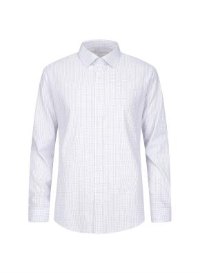 투톤컬러 베이직 체크 패턴 셔츠 (BL)