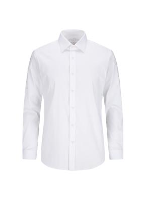 스트레치 면혼방 솔리드 드레스셔츠 (WT)