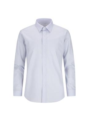 레이온혼방 스트레치 면혼방 솔리드 드레스셔츠 (BL)