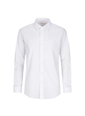 레이온혼방 스트레치 면혼방 솔리드 드레스셔츠 (WT)