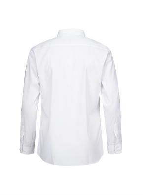 와이드 카라 슬림핏 드레스 셔츠