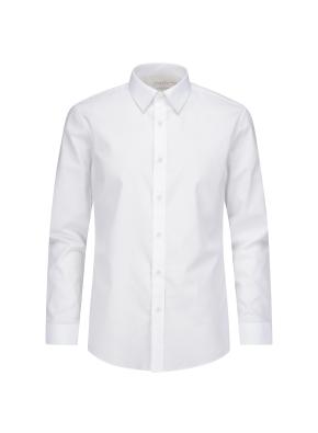 솔리드 슬림핏 드레스 셔츠 (WT)