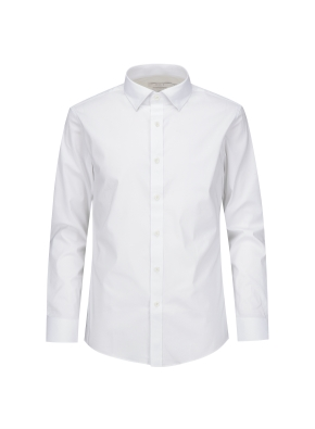 세미와이드 카라 슬림핏 드레스 셔츠 (WT)