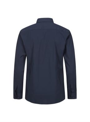 면혼방 스트레치 베이직 슬림핏 셔츠 (NV)