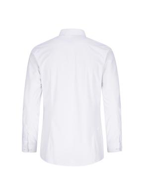 저지 슬림핏 솔리드 드레스셔츠 (WT)