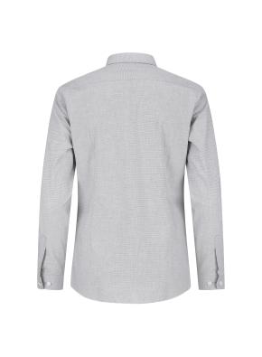 스트레치 면혼방 슬림핏 마이크로체크 드레스셔츠