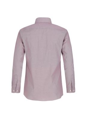 스트레치 면혼방 슬림핏 마이크로체크 드레스셔츠 (RD)