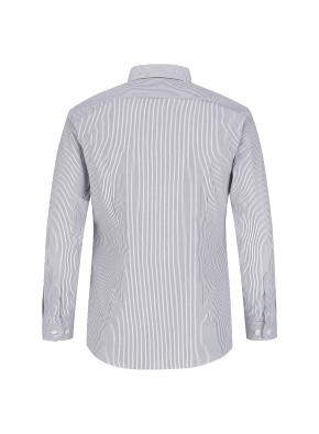 면혼방 슬림핏 스트라이프 드레스셔츠 (NV)
