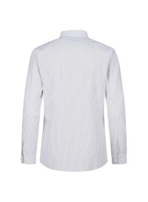 스트레치 면혼방 슬림핏 스트라이프 드레스셔츠 (BK)