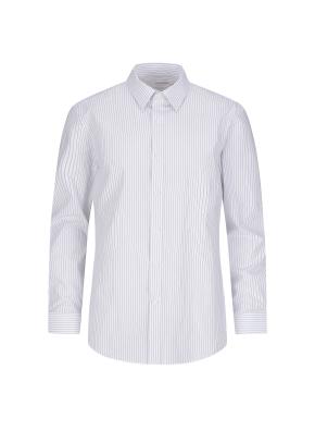 스트레치 면혼방 슬림핏 스트라이프 드레스셔츠 (BL)