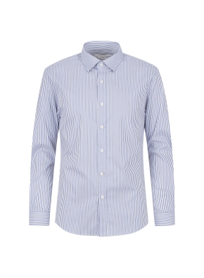 스트레치 면혼방 슬림핏 런던스트라이프 드레스셔츠 (BL)