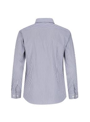 스트레치 면혼방 슬림핏 런던스트라이프 드레스셔츠 (NV)