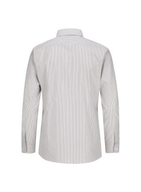 스트레치 면혼방 슬림핏 투톤스트라이프 드레스셔츠 (BE)