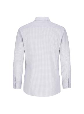 스트레치 면혼방 슬림핏 체크 드레스셔츠