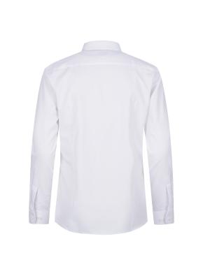 스트레치 레이온혼방 슬림핏 솔리드 드레스셔츠 (WT)