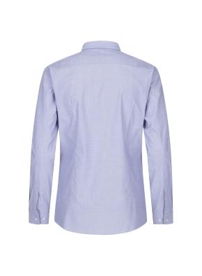 스트레치 면혼방 슬림핏 솔리드 드레스셔츠 (NV)