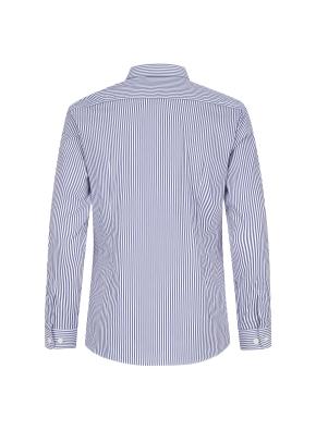 스트레치 면혼방 슬림핏 스트라이프 세미와이드카라 드레스셔츠 (NV)