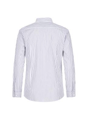 스트레치 면혼방 슬림핏 스트라이프 드레스셔츠 (NV)
