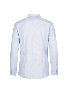 스트레치 면혼방 슬림핏 미니체크 드레스셔츠 (BL)