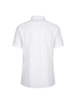 면혼방 슬림핏 솔리드 반팔 드레스셔츠 (WT)