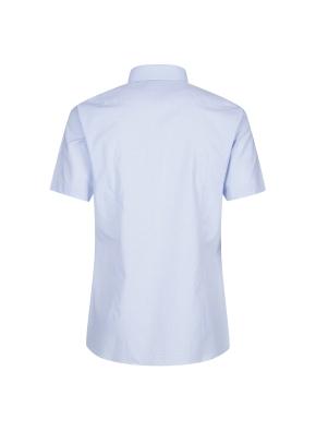 스트레치 면혼방 슬림핏 마이크로체크 반팔 드레스스셔츠 (BL)