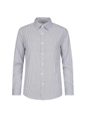 투톤 스트라이프 베이직 셔츠 (GR)
