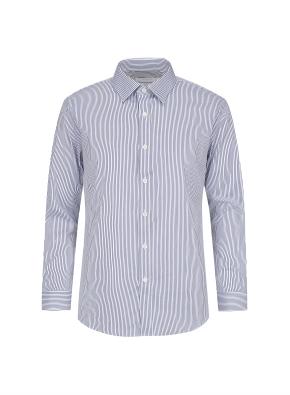 투톤 스트라이프 베이직 셔츠 (NV)