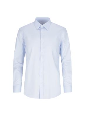 스트레치 면혼방 슬림핏 솔리드 드레스셔츠 (BL)