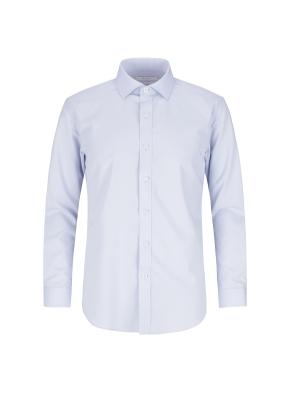 스트레치 레이온혼방 슬림핏 솔리드 드레스셔츠 (BL)