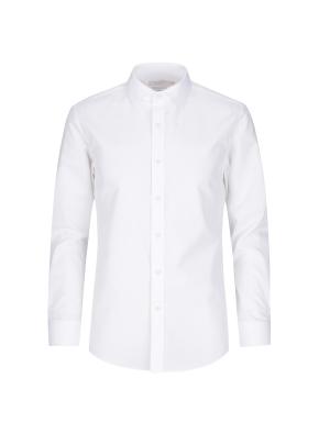 면혼방 슬림핏 솔리드 드레스셔츠 (WT)