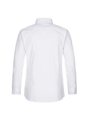 스트레치 면혼방 슬림핏 솔리드 드레스셔츠 (WT)