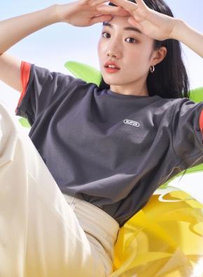 올리버X슈퍼픽션 반팔 티셔츠 (BK)