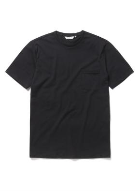 USA코튼 포켓 반팔 티셔츠 (BK)