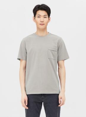 USA코튼 포켓 반팔 티셔츠 (GR)