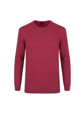 울캐시 케이블 라운드 스웨터 (PK)