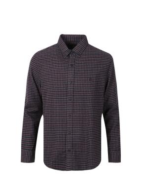 멜란지 깅엄 체크 셔츠 (WN)