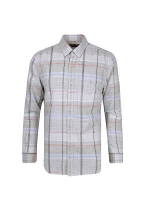 코튼린넨 멀티체크 셔츠 (GR)