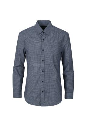 면혼방 미니깅엄 체크 셔츠 (NV)