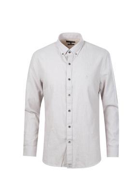 코튼 솔리드 스탠다드 핏 셔츠 (IV)