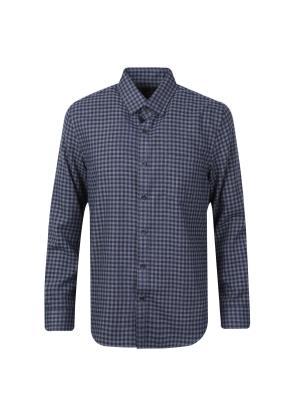 미니 깅엄 체크 스탠다드 셔츠 (GR)