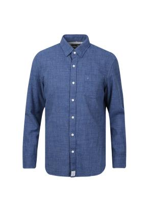 코튼 레귤러 체크 셔츠 (BL)