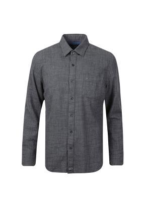 코튼 레귤러 체크 셔츠 (DGR)