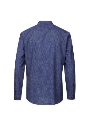 에어매쉬 헨리넥 프린트 경량 셔츠 (BL)
