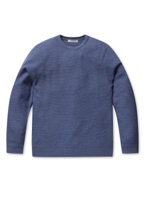 워셔블 라운드 스웨터 (BL)