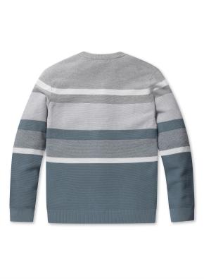 워셔블 블록 라운드 스웨터 (GR)
