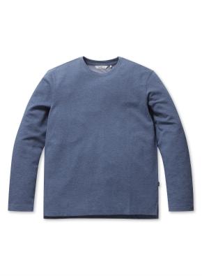 베이직 언밸런스 라운드 티셔츠 (BL)