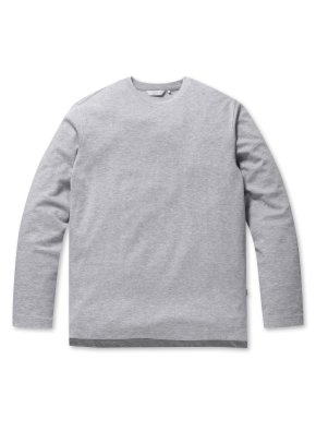 베이직 캐주얼 라운드 티셔츠 (GR)