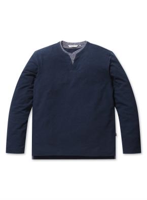 S/T 헨리넥 레이어드 티셔츠 (NV)