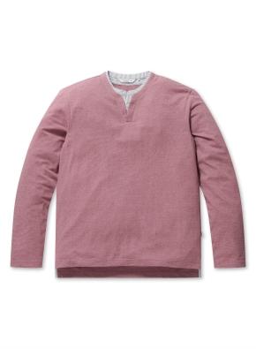 S/T 헨리넥 레이어드 티셔츠 (PK)