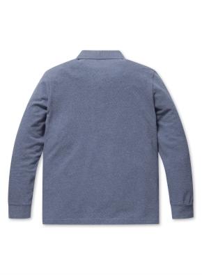 소프트 코튼 S/T 카라 티셔츠 (BL)